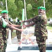 AMISOM Kenyan Contingent Brig. Paul Njema Officially Hands Over Power to the New Commander