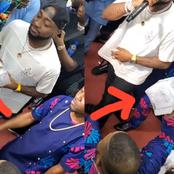 Photos: See The Huge Bundles Of Cash Davido Gifted Yinka Ayefele At An Event As He Performs Live