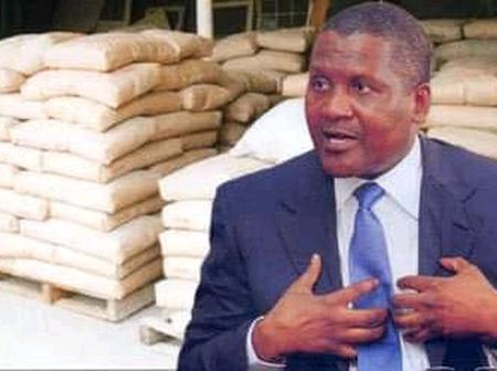 Nigerians Blast Dangote Online For Allegedly Selling His Cement At 1,150 Naira Per Bag In Zambia