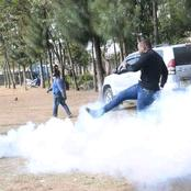 The King of Demos, DP Ruto Close Ally Kicks Back Teargas Towards the Police