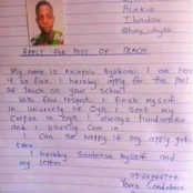 Checkout the Application Letter a Graduate Wrote for the Position of a Teacher