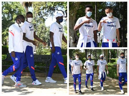 [Photos] See What Chelsea Players Were Spotted Doing Few Hours Before They Face Porto