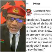 I'm Igbo And I Swear To Allah, Fulani Herdsmen Are Not Killers, See Their Sponsors - Nnamdi Kanu
