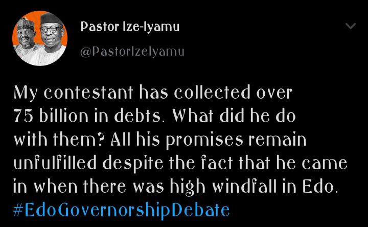 edo2020: 5 allegations made by ize iyamu on obaseki corrupt governance in edo state Edo2020: 5 Allegations Made By Ize Iyamu on Obaseki Corrupt Governance in Edo State 81da783a3831da7fe2955254a5eddc62 quality uhq resize 720 edo2020: 5 allegations made by ize iyamu on obaseki corrupt governance in edo state Edo2020: 5 Allegations Made By Ize Iyamu on Obaseki Corrupt Governance in Edo State 81da783a3831da7fe2955254a5eddc62 quality uhq resize 720