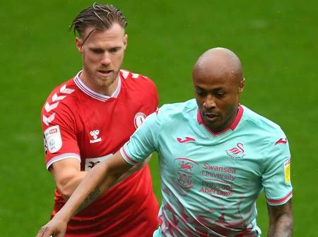 Andre Ayew helps Swansea City secure victory over Adebayo's Luton Town - Full Details Here