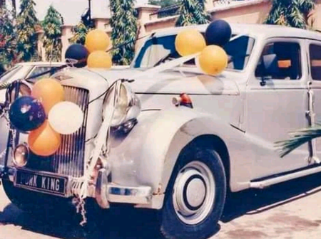 Charly boy shared photos of his family's old car