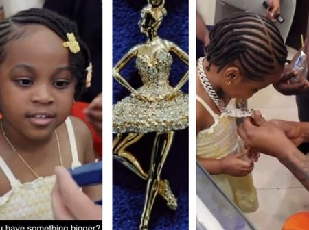 'Money is good'- See the expensive Jewelry that Davido bought for his 2-yr-Old Daughter, Hailey