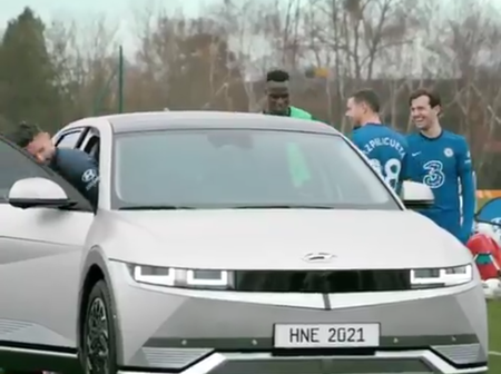 Photos: Chilwell, Mendy, Giroud, others in a promotional shoot for a new Hyundai Car.