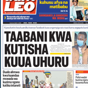 Man In Trouble For Threatening To Shoot Uhuru, Ruto A Changed Man And Vaccines In Newspapers Today