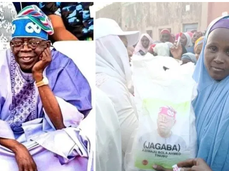 Ahead Of The 2023 Election, Bola Tinubu Shares Bags Of Rice To Residents In Kano (Photos)