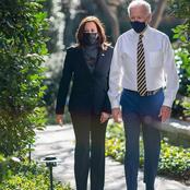 Joe Biden And Kamala Harris Share A Beautiful Moment, oe Biden And Kamala Harris Share A Beautiful Moment,   After The Inauguration(Photos)