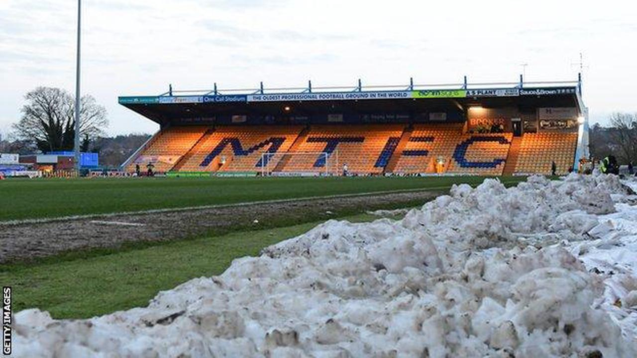 Mansfield Town v Salford City postponed because of snow
