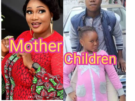 Checkout Lovely Photos Of Famous Yoruba Actress Jayie Kuti And Her Husband And Children.