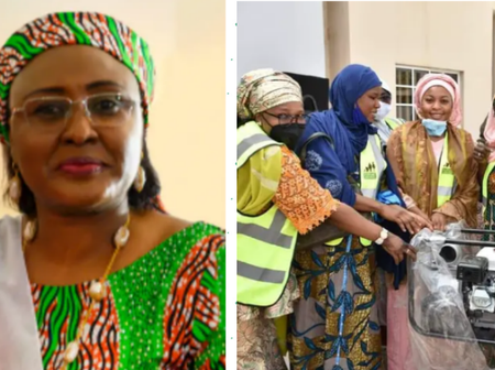 Check Out What Aisha Buhari Helped Some Nigerian Youths With, Just After Her Return To The Country