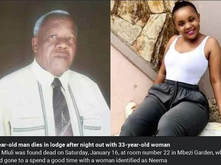Tragedy as 80 year old man passes away at a guest house he booked in with his 33 year old girlfriend