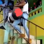 See What a Man Was Caught doing to This Lady On a Stir Case That's Attracting People's Reactions