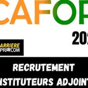 Ouverture du concours d'entrée au CAFOP,  session 2021: tout sur les différentes étapes