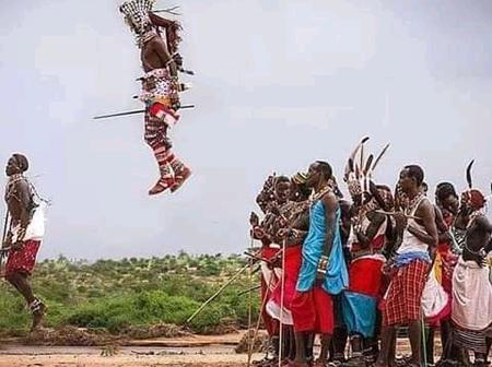 These Are Not Photoshopped, These Are Maasai People On Their Leaping Dance Contest