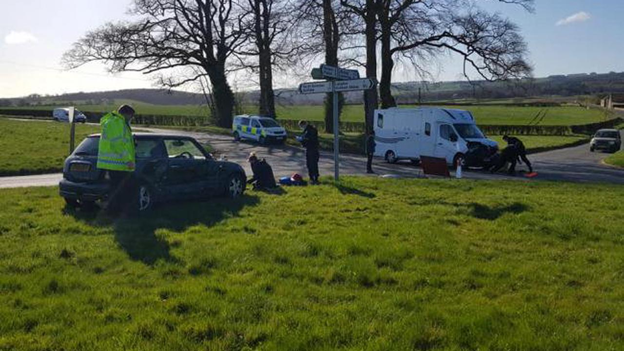 Passers-by come to aid of motorist following crash