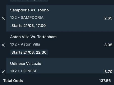 Five(5)Multibets With GG, Over 2.5 And Boosted Odds To Place On This Sunday.