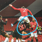 Lindelof made this foul yesterday but didn't get a red card