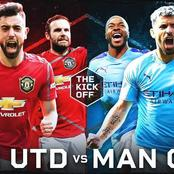 2 Possible Line Ups For Manchester United, Manchester City As They Clash Today And Prediction