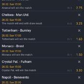 Well Analysed Super Sunday Football With Total Of 200+ Odds