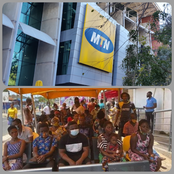 BREAKING: MTN MoMo merchants flood the headquarters for block of Sim cards –[read].
