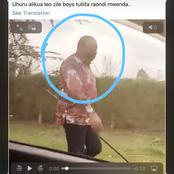 Maisha Magic East Actor Coincidentally Meets Uhuru Kenyatta Strolling The Streets Without Security