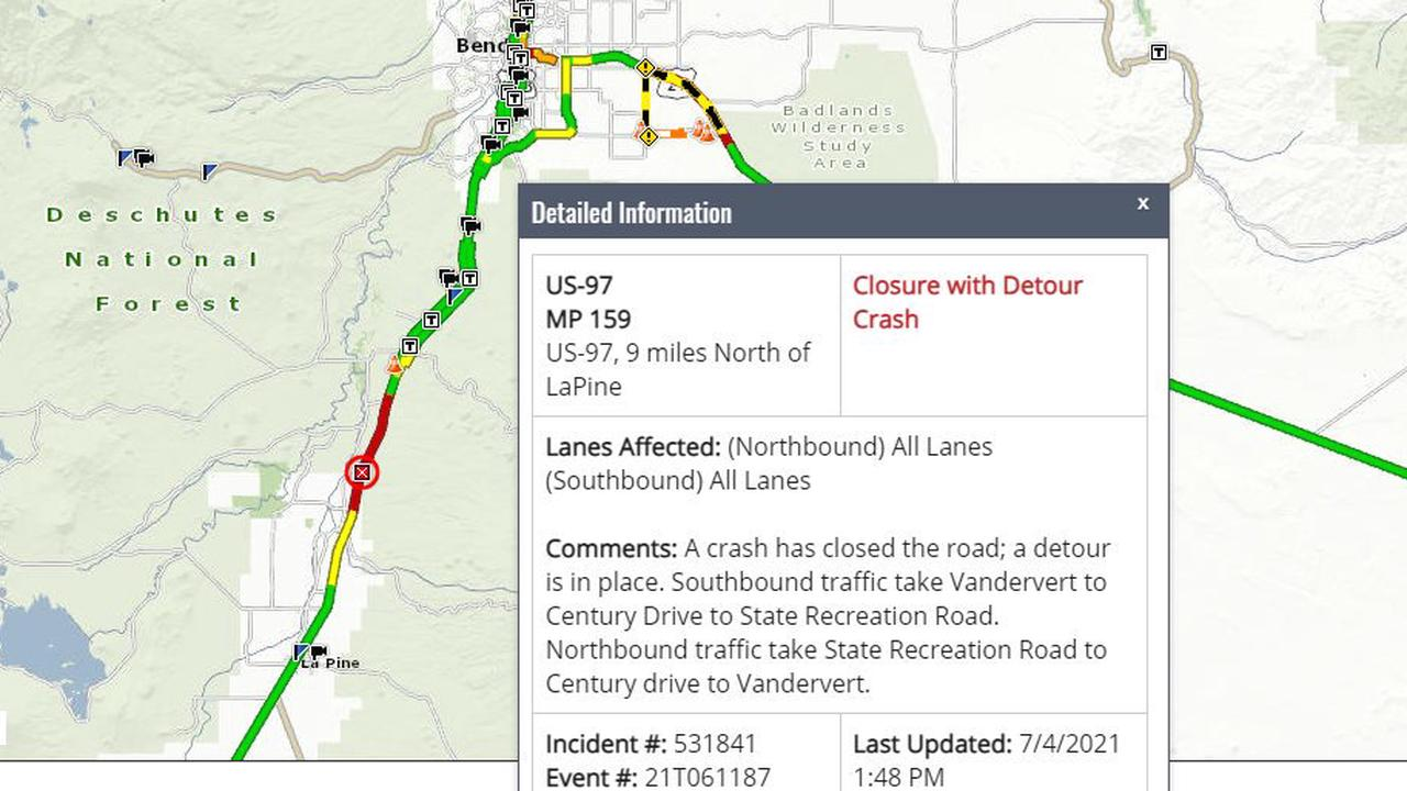 One driver killed, second seriously injured in Highway 97 head-on crash north of La Pine