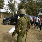 Tension in Polling Station as Mp Kicks Teargas Back to Police Officers And Sudi Chased Away