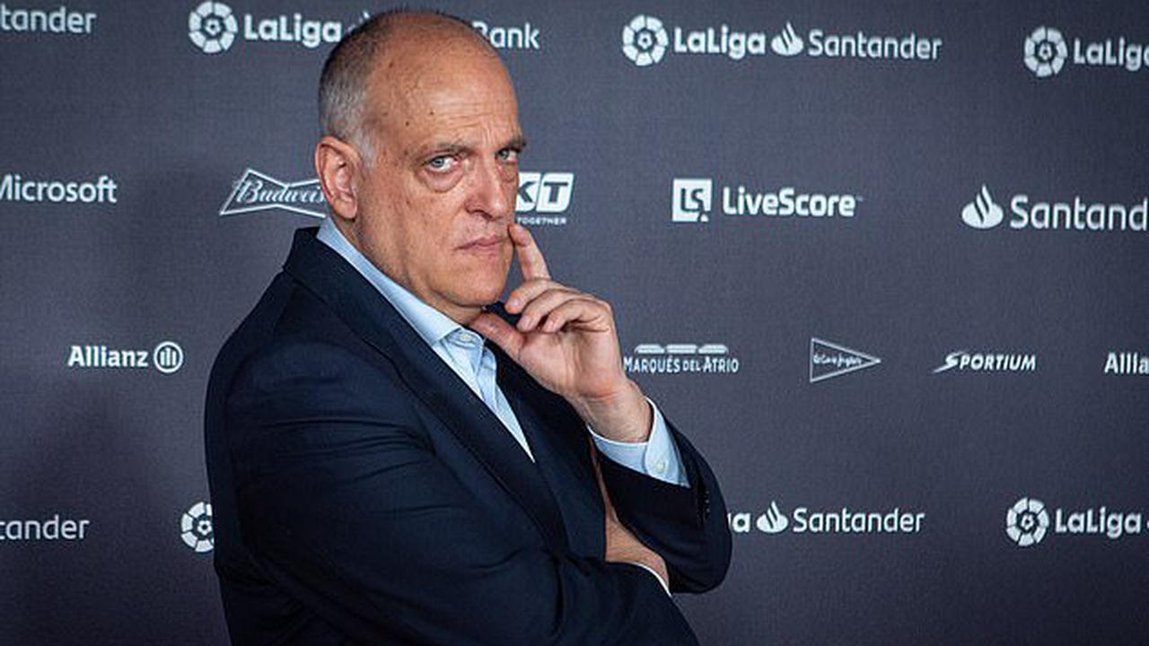 'The whole thing is a bit of a JOKE': LaLiga chief Javier Tebas continues to slam European Super League plans... but gives rebel clubs Real Madrid, Barcelona and Juventus some credit for wanting to work with the game's governing bodies