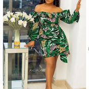 Single And Married Ladies Upgrade Your Wardrobe With These Unique Short Ankara Gowns
