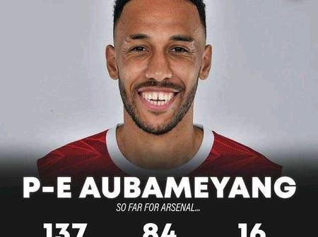 Aubameyang Enters into Arsenal's Record Book