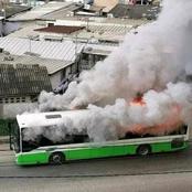 Un bus brûlé ce lundi soir à Yopougon