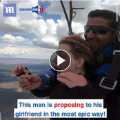 See How 2 Men Proposed To Their Girlfriends In The Most Epic Way, One In The Sky & Another Underwater