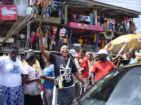 Edo : See How Market Women Swept The Streets Of Benin City In Solidarity With Ize-Iyamu(Photos)