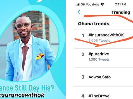 Okyeame Kwame trends number 1 on Twitter with his Positive insurance Campaign