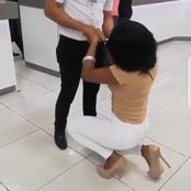 LOVE IS BEAUTIFUL: See The Lovely Moment This Beautiful Girl Proposed To Her Man and He Said Yes
