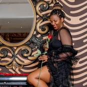 Mamkhize left fans in a frenzy with her current beautiful pictures on social media.