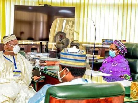 Governor Ganduje Visits Minister Of Finance In Her Abuja Office