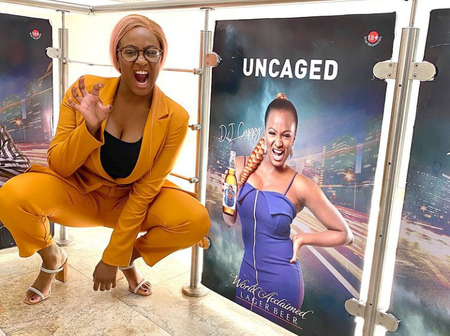 DJ Cuppy shares new photo without her pink hair