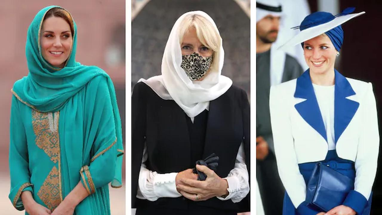 15 times the Royals have worn a head covering to show respect