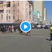 Watch: South Africans take Back Businesses from illegal foreigners in Durban- Man Reveals
