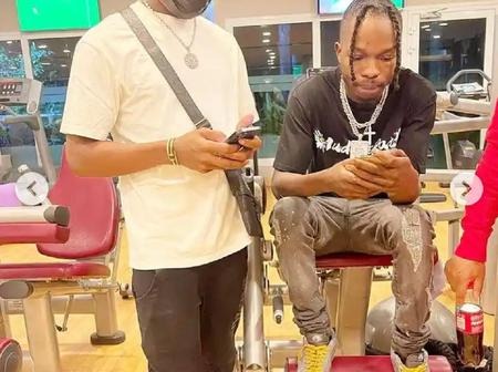 Reactions as Naira Marley Shares cool photos of himself in the gym with his fans.