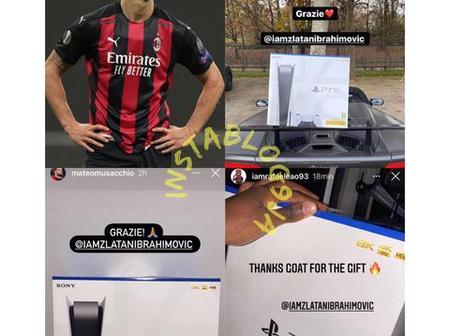 Footballer Zlatan Ibrahimovic buys ps5 for all his team mates in AC Milan. (See comments)