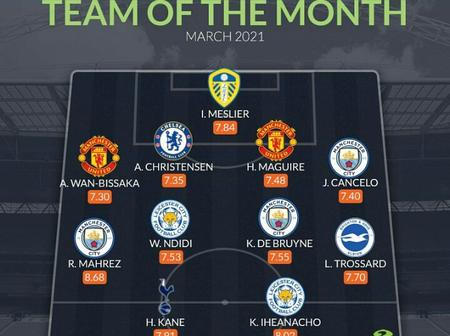 Checkout Premier League Team Of The Month For The Month Of March.
