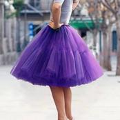 Puple skirts: checkout 5 photos of these cool skirt style