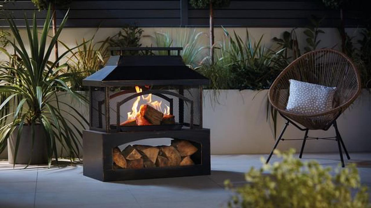 Aldi's popular outdoor log burner is back and you can buy it online now