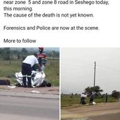 A homeless man die from a hit and run in Seshego Limpopo outside Polokwane. Not for sensitive reader